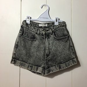 American Apparel Denim High Waisted Shorts